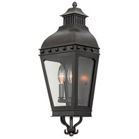 Kalco 403320AI Winchester Outdoor 2 Light 8 inch Aged Iron Wall Pocket Wall Light