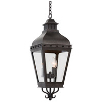 Kalco 403351AI Winchester Outdoor 3 Light 10 inch Aged Iron Pendant Ceiling Light