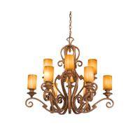 Kalco Ibiza 12 Light Chandelier in Bellagio 4033BG/1502