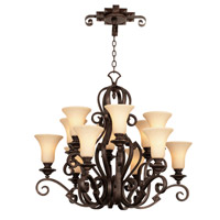 Ibiza 12 Light 37 inch Antique Copper Chandelier Ceiling Light in Neutral Swirl (1478)