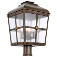 Kalco 403400AGB Sherwood Outdoor 4 Light 24 inch Aged Bronze Post Mount