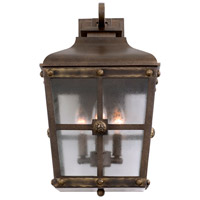 Kalco 403422AGB Sherwood Outdoor 3 Light 11 inch Aged Bronze Wall Sconce Wall Light