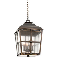 Kalco 403451AGB Sherwood Outdoor 4 Light 13 inch Aged Bronze Pendant Ceiling Light