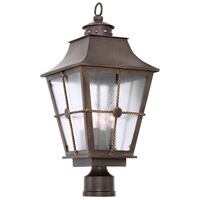Kalco 403500AGB Belle Grove 4 Light 24 inch Aged Bronze Post Mount