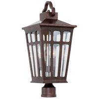 Kalco 403600OR Piedmont Outdoor 3 Light 24 inch Old Rust Post Mount