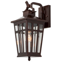 Kalco 403621OR Piedmont Outdoor 1 Light 8 inch Old Rust Wall Sconce Wall Light
