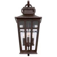 Kalco 403623OR Piedmont Outdoor 3 Light 12 inch Old Rust Wall Sconce Wall Light