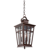 Kalco 403651OR Piedmont Outdoor 3 Light 10 inch Old Rust Pendant Ceiling Light