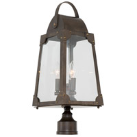 Kalco 403700AGB Arlington 3 Light 24 inch Aged Bronze Post Mount