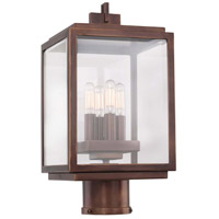 Kalco 403800CP Chester Outdoor 4 Light 16 inch Copper Patina Post Mount