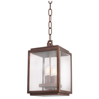 Kalco 403850CP Chester Outdoor 4 Light 8 inch Copper Patina Pendant Ceiling Light