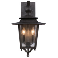 Kalco 404121AI Saddlebrook Outdoor 2 Light 12 inch Aged Iron Wall Sconce Wall Light