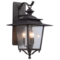 Kalco 404122AI Saddlebrook 3 Light 25 inch Aged Iron Outdoor Wall Sconce