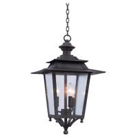 Kalco 404150AI Saddlebrook 3 Light 14 inch Aged Iron Outdoor Hanging Lantern
