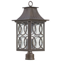 Kalco 404200AGB Monterey 3 Light 26 inch Aged Bronze Outdoor Post Mount