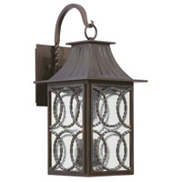 Kalco 404222AGB Monterey Outdoor 3 Light 12 inch Aged Bronze Wall Sconce Wall Light