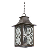 Kalco 404250AGB Monterey Outdoor 3 Light 12 inch Aged Bronze Hanging Lantern Ceiling Light