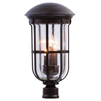 Kalco 404300BB Emerson 3 Light 21 inch Burnished Bronze Outdoor Post Mount