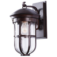 Kalco Burnished Bronze Glass Wall Sconces