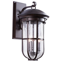 Kalco 404322BB Emerson 3 Light 22 inch Burnished Bronze Outdoor Wall Sconce