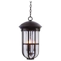 Kalco 404350BB Emerson 3 Light 11 inch Burnished Bronze Outdoor Hanging Lantern