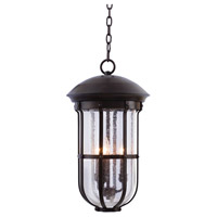 Kalco 404350BB Emerson Outdoor 3 Light 11 inch Burnished Bronze Hanging Lantern Ceiling Light