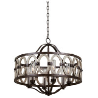 Kalco 404452FG Belmont 6 Light 28 inch Florence Gold Pendant Ceiling Light