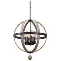 Harper 6 Light 25 inch Florence Gold Pendant Ceiling Light