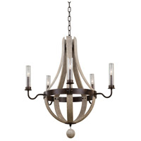 Harper 5 Light 32 inch Florence Gold Chandelier Ceiling Light