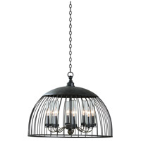 Ludlow 8 Light 28 inch Natural Iron Pendant Ceiling Light