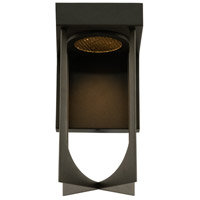 Kalco 405221MB Optika LED 10 inch Matte Black Outdoor Wall Sconce