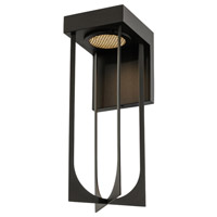 Kalco 405222MB Optika LED 14 inch Matte Black Outdoor Wall Sconce