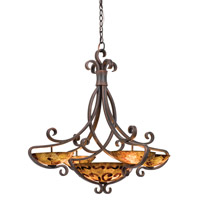 G-Cleft 11 Light 38 inch Antique Copper Chandelier Ceiling Light in Bowl shade,  15