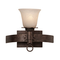 Americana 1 Light 13 inch Antique Copper Bath Light Wall Light in White Alabaster (1219), Copper Claret