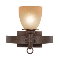 Americana 1 Light 13 inch Antique Copper Bath Light Wall Light in Smoked Taupe (1305), Copper Claret
