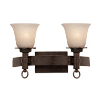 Americana 2 Light 17 inch Bellagio Bath Light Wall Light in White Alabaster (1219), Copper Claret
