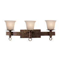 Americana 3 Light 27 inch Bellagio Bath Light Wall Light in White Alabaster (1219), Copper Claret