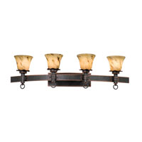 Kalco Lighting Americana 4 Light Bath Light in Antique Copper with Neutral Swirl Glass 4204AC/1239