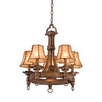 Kalco Americana 5 Light Chandelier in Bellagio 4205BG/8045