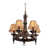 Kalco Lighting Americana 5 Light Chandelier in Copper Claret 4205CC/8045