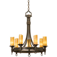 Americana 7 Light 30 inch Bellagio Chandelier Ceiling Light in Antique Copper, Calcite (CALC), Without Shade