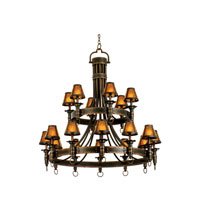 Kalco 4208AC/S205 Americana 18 Light 47 inch Antique Copper Chandelier Ceiling Light in Without Glass, Mica (S205)