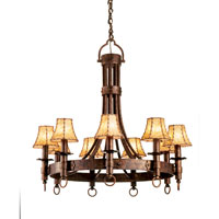 Kalco Lighting Americana 9 Light Chandelier in Copper Claret 4209CC/NO-SHADE