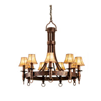 Americana 9 Light 36 inch Tawny Port Chandelier Ceiling Light in Copper Claret, Without Glass, Leather-wrapped
