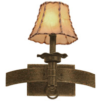 Americana 1 Light 13 inch Copper Claret Wall Bracket Wall Light in Antique Copper, Without Glass, Leather-wrapped