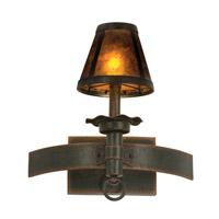 Americana 1 Light 13 inch Copper Claret Wall Bracket Wall Light in Antique Copper, Without Glass, Mica (S205)