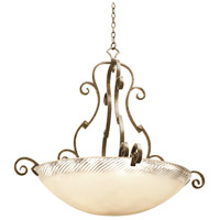 Kalco 4243AC/ALAB Ibiza 6 Light 45 inch Antique Copper Pendant Ceiling Light in Alabaster