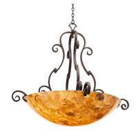 Ibiza 6 Light 45 inch Antique Copper Pendant Ceiling Light in Penshell (PS105)