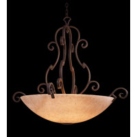 Kalco Ibiza 6 Light Pendant in Tawny Port 4243TP/G3384