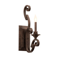 Kalco 4256CI/8030 Ibiza 1 Light 6 inch Country Iron Wall Sconce Wall Light